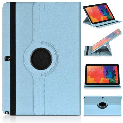 ratesell Struktur 360° Flip Hülle Tasche für Samsung Galaxy Note 12.2Pro P900/P905mit Standfunktion, Babyblau