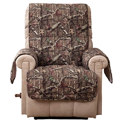 Innovative Textile Solutions, Ultimate Microfiber Furniture Protector Recliner Wing Chair, Mossy Oak Chair, Comfortable Easy Stretch Fabric, Protect Against Spills and Stains (Mossy Oak)