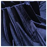 Blau Weicher Samtstoff Dekostoff 160cm Breit Dehnbares