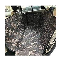 XAZTY 犬のカーシートカバー防水、犬アーティファクトブースターシート車リアシートアンチ汚い安全シートハンモックヘビーデューティノンスリップ、ブラウン135 * 145センチメートル (Color : Brown leaves, Size : 135*145cm)