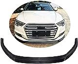 ABABABA Ajuste para Audi A3 Hatchback 2017-2020 Fibra De Carbono CF Alerón De Barbilla Frontal Divisor De Parachoques Kits De Cuerpo De Labio Delantero
