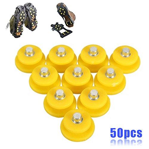 Jiayuane 50 PCS 10 dents Anti-dérapant Ice Grips Marchez les crampons de traction Pics de glace de neige pour la sécurité d'hiver