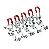 JJOnlinestore–rápido Metal Hold Holding Capacidad Toggle Latch palanca de herramienta de mano Toggle Clamp DIY capacidad 100kg ((5piezas Set)