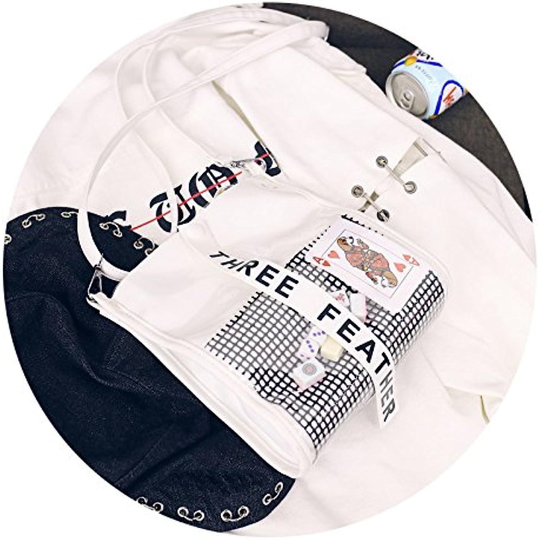 Anyer Neue Gelee Packs Weiblichen ins Gezeiten Korea Ulzzang Ulzzang Ulzzang Transparent Paket Schulter Crossbody Tasche Mädchen Persönlichkeit Paket B07DWX84M8  Vielfalt 1f1111