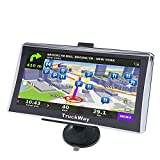 TruckWay GPS - Pro Series Model 720 - Truck GPS 7' Inch for Truck Drivers Navigation Lifetime North America Maps (USA + Canada) 3D & 2D Maps, Touch Screen, Turn by Turn Directions