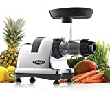 Omega J8008C Juicer Extractor and Nutrition Center Creates Fruit Vegetable and Wheatgrass Juice Quiet Motor Slow Masticating Dual-Stage Extraction Automatic Pulp Ejection, 200-Watt, Metallic