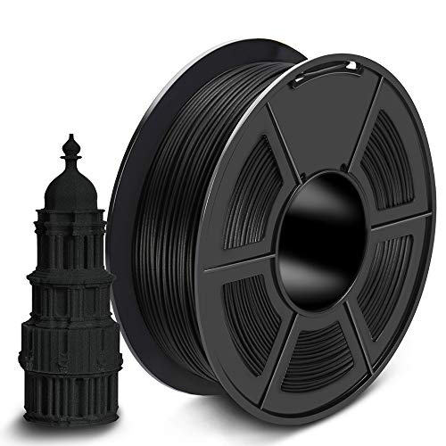 SUNLU Carbon Fiber PLA Filament 1kg 1.75mm 3D Printer Filament, Dimensional Accuracy +/- 0.02 mm, 1kg Spool, 1.75 mm