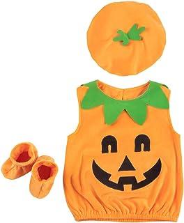 FENICAL Disfraces de Halloween para niños Trajes de Ropa de Fotos de Calabaza
