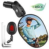 West Biking Espejo retrovisor plegable para bicicleta, lado izquierdo y derecho, para bicicletas eléctricas con superficie de espejo ampliada, para manillar de bicicleta de carretera y de montaña.