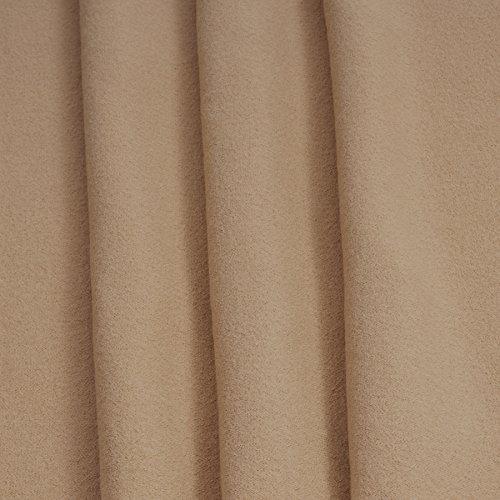 MIRABLAU DESIGN Stoffverkauf Schurwolle Strickwalk in beige (1-081M) 0,5m