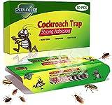 KafooStore Trappole per Scarafaggi, 10 Pezzi Anti Scarafaggi con a Colla, Scarafaggi Trappola Casa Atossica + 10 Esche per Cockroach