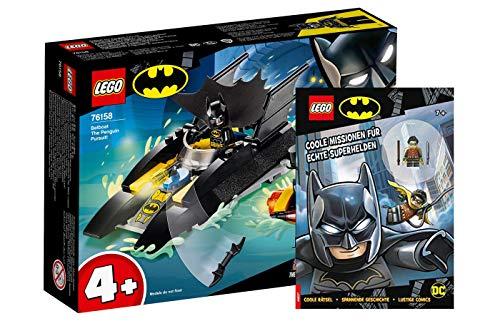 Lego DC Comics Super Heroes 76158 - Juego de persecución del pingüino con Batboat y misiones geniales para verdaderos superhéroes con figura de Robin (cubierta blanda)