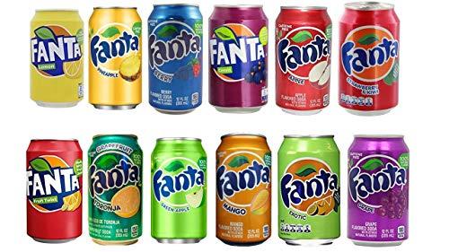 US Fanta Mix-Set 12 Dosen, inkl. 3,00 Euro DPG-PFAND