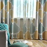 Xinllm verdunkelungsvorhang gardinen für schiene Thermische vorhänge Vorhänge Bleistift Falten Jungen vorhänge Vorhang Schlafzimmer Blackout Vorhang 100X270,Yellow Green - 5