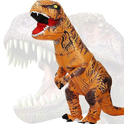JASHKE Trex Kostüm Aufblasbare Kostüme Tyrannosaurus Rex Anzug Dinosaurier Kostüm Erwachsene Karneval Party Dino Kostüm Männer Frauen