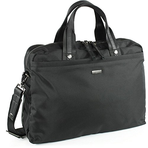 bugatti Reißverschluss-Businesstasche groß, Schultertasch Contratempo schwarz
