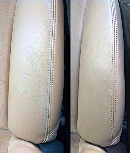 colourcare24 Kit ritocco Interni Pelle Beige Dakota Vernice Spallina Seduta Eco Pelle Auto Colore Sigillo Protettivo rifacimento screpolatura Leather Fresh