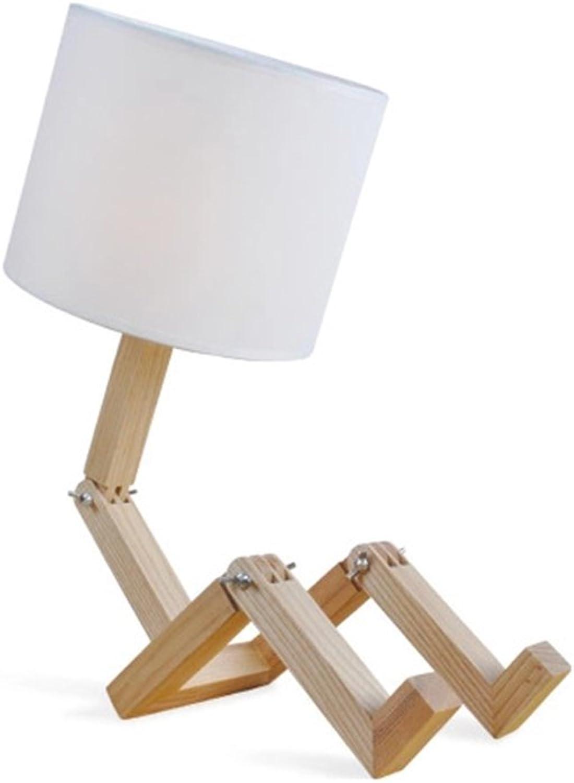 LED Schreibtischlampe Einfache Moderne Persnlichkeit Massivholz Schreibtischlampe Kreative Schlafzimmer Kopfteil Eye-Care-Tischlampe