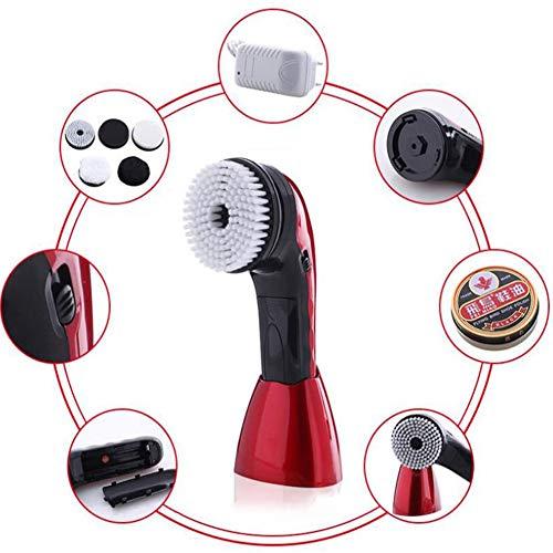 LTJY Cepillo Eléctrico con 5 Cepillos para Zapatos,Mini Pulidora Eléctrica Portátil, Pulidor...