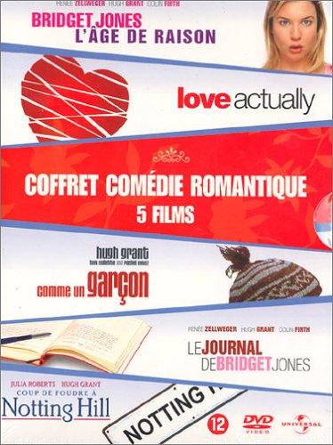 Coffret Comédie romantique 5 DVD : Le Journal de Bridget Jones / Bridget Jones : L'âge de raison / Love Actually / Comme un garçon / Coup de foudre à Notting Hill [Import belge]