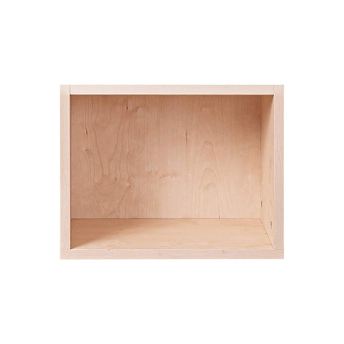アーネストシャクルトン読む種をまくLPビニールレコードディスプレイスタンド、キューブ本棚スタッキングキャビネット、木製棚収納ユニットオフィスリビングルーム用家具 (Color : Wood color, Size : 1-grid cabinet)