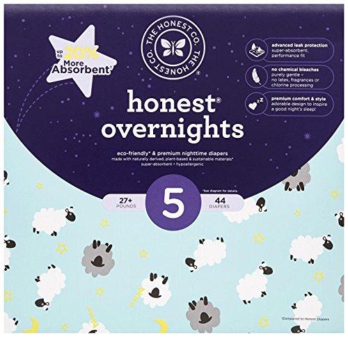 Honest Overnight Baby Diapers, Club Box, Sleepy...