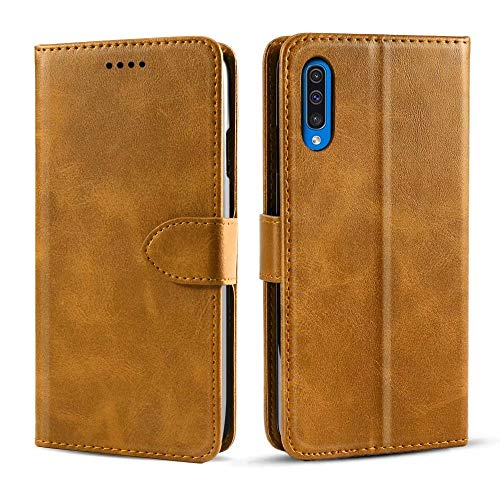 NOKOER Leather Case for Samsung Galaxy S20 FE 5G, Flip Cowhide PU Leather Wallet Cover, Card Holder Leather Protective Phone Case for Samsung Galaxy S20 FE 5G - Yellow