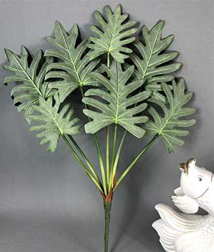 Without brand XXF-jh, 1pc 7fork Große Plastik Maranta Baum Banch Artificial Monstera Pflanze Tropische Blätter Gefälschte Grüne Blätter for Weihnachten Home Decor (Farbe : 60cm B)