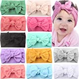JOYOYO 12 Pcs Baby Headbands with Bows Wide Headbands Super Stretchy Soft Elastic Headbands and Hair...