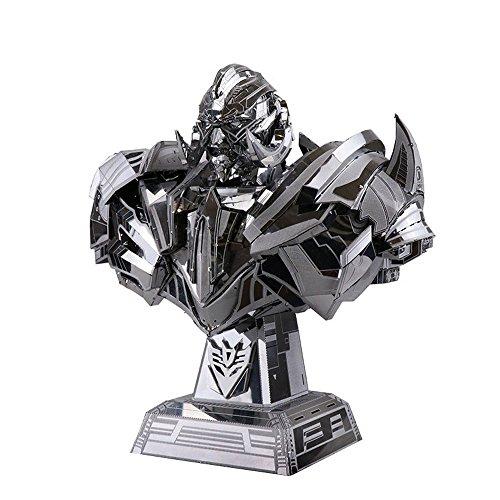 MU 3D Metal Nano Puzzle Transformers 5 Megatron El último caballero Modelo Kit YM-L033 DIY 3D Laser Cut Jigsaw Toy