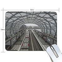 マウスパッド かわいい 新幹線 駅 透明 ガラス 高級 ノート パソコン マウス パッド 柔らかい ゲーミング よく 滑る 便利 静音 携帯 手首 楽