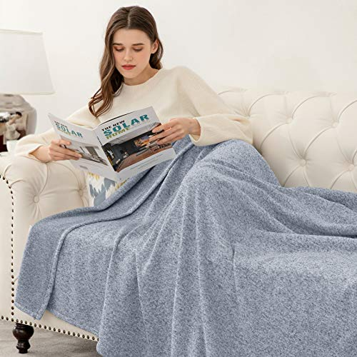 """joybest Bed Throw Knit Blanket Summer Lightweight Breathable Fuzzy Jersey Throw Blanket for Couch Sofa Bed King Size 90""""x108"""""""