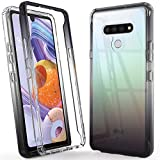 Puxicu LG Stylo 6 Case, LG Stylo 6 Phone Case Beautiful Colour TPU Shockproof Protection Scratch-Resisitant Shell Cover for LG Stylo 6 2020-BLACK