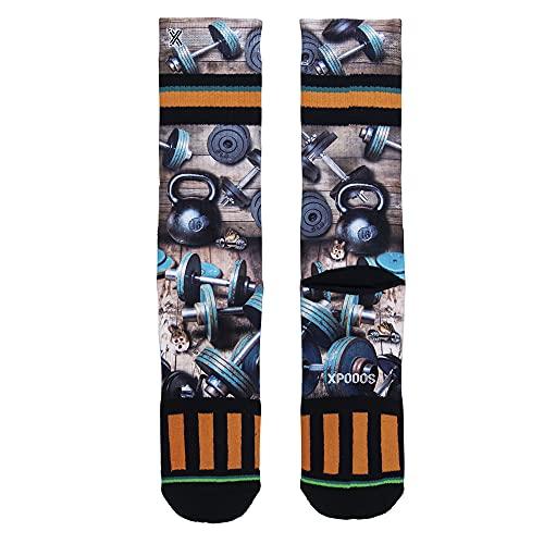 XPOOOS Dumbells Socks Calcetines, Multicolor, 39-42 de los Hombres