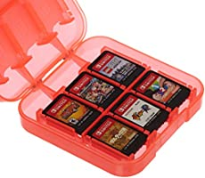AmazonBasics Game Storage Case for Nintendo Switch - Red