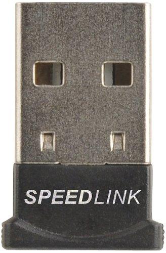 Speedlink VIAS Nano USB Bluetooth 4.0-adapter voor gegevensoverdracht op kantoor/thuiskantoor voor gaming/pc/notebook/laptop, zwart