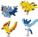 Poke-Mon Pet Serie Micro Bloques De Construcción Establecer Figuras De Acción DIY Figuras Juguetes Regalo para Adultos Niños (4 Pack)