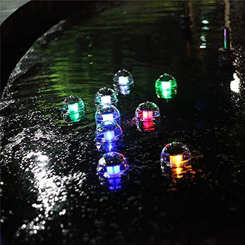Waroomss - Luz Solar Flotante Solar, Impermeable la luz de Bola de suspensión Solar de luz LED con plástico ABS para la Fuente de jardín de Piscina