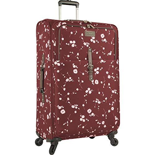 Chaps 28' Expandable Spinner Luggage, Wine Ditzy Floral