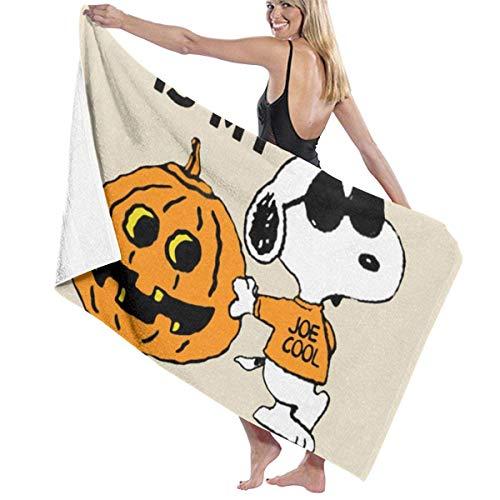 asdew987 Sn-oo-p-y - Disfraz de calabaza para Halloween, secado rpido, altamente absorbente, multiusos, toallas de bao, toallas de playa, toallas de piscina, 31 x 51 pulgadas, para mujeres y hombres