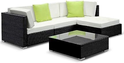 Gardeon 5pcs Outdoor Sofa Modular Lounge Wicker Rattan Furniture Garden Patio