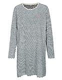 BASEFIELD Organic Cotton Homewear Nachthemd - Navy Grey