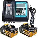Batería de repuesto para Makita BL1850 BL1840 BL1830 LXT400 y cargador de 3 A DC18RA DC18RC 3A 14,4...