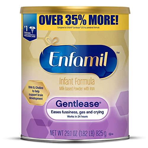 Enfamil Gentlease Sensitive Baby Formula Gentle Milk Powder, 27.7oz Omega 3 DHA, Probiotics, Iron & Immune & Brain Support (Package May Vary)
