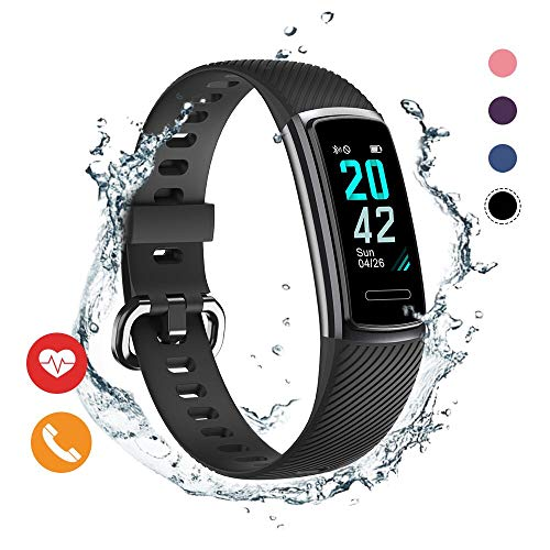 Huyeta Fitness Trackers HR Orologio Activity Tracker sport Watch Cardiofrequenzimetro Impermeabile IP68 Braccialetto intelligente Pedometro Fitness watch con allarme/Contatore di calori (4)