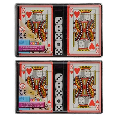 1a-becker 2X 2er Set Kartenspiel (54 Blatt) mit 5 Würfel Spielkarten Skat Spiel Karten Blatt