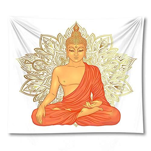 PPOU Statua di Buddha indiano arazzo panno appeso a parete tappeto Yoga psichedelico sfondo Muro di casa panno appeso panno A9 180x200cm