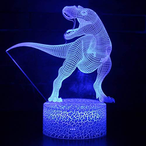 Luz Nocturna NiñOs, Luz Quitamiedos Bebé, Lámpara Infantil LED USB Recargable Dinosaurio, 16 Color Cambiante/Control Tátil para Niños