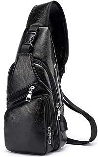 ZHD&CC Bolso De Mano para Hombro De Cuero Bolso De Mensajero para Hombres Crossbody Satchel Side Bag for Trabajo COMPETER ...