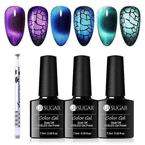 UR SUGAR 7,5ml Cat Magnetische Gel Nagellack Magische Box Cat Jade Eyes Effekt Lack UV Nagellack Gelnägel Starterset Flaschen Klassische Farbe